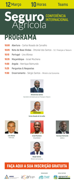 ASAN - WEBINAR: Conferência Internacional sobre Seguro Agrícola – Programa e Link