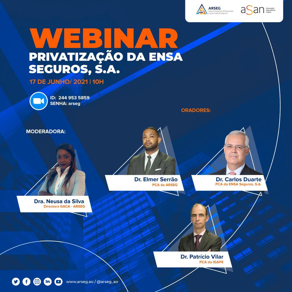 Webinar: Sobre Privatização da Ensa Seguros, S.A